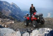 ATVing on a hill photo